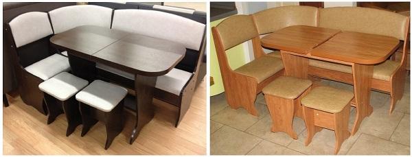 Кухонный уголок с раскладным столом
