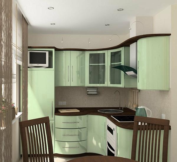 кухонный гарнитур в маленькую кухню в хрущевке