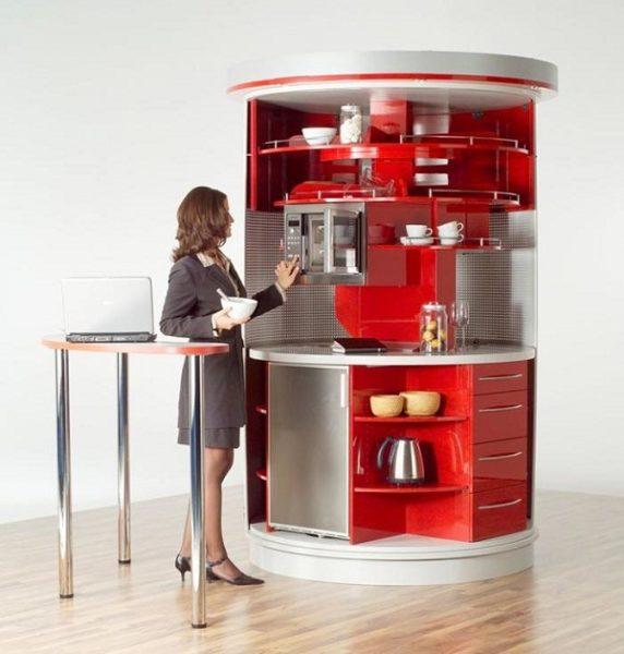 Круглая мобильная кухня