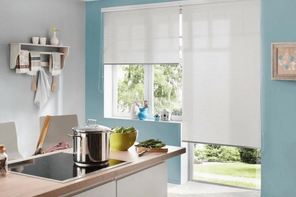 Рулонные шторы для кухни Икеа фото