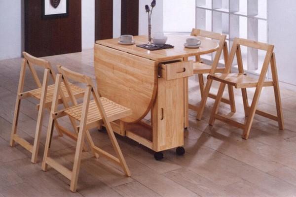 обеденный столик на колесиках для маленькой кухни
