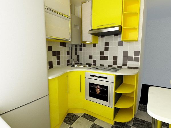 материалы для ремонта в маленькой кухне