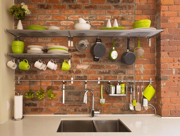 рейлинг на кухне в интерьере реальная кухня
