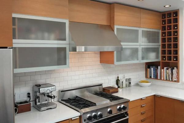 Планировка верхних модулей маленькой кухни