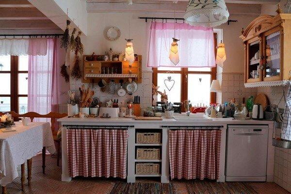 шторы для шкафчиков на кухне икеа фото