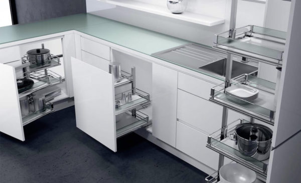 Виды фурнитуры для кухонной мебели