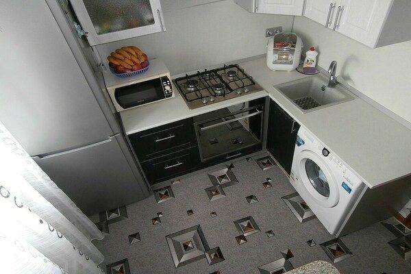 расстановка мебели на маленькой кухне