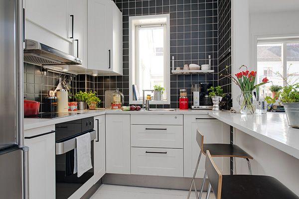 маленькая кухня без стола дизайн