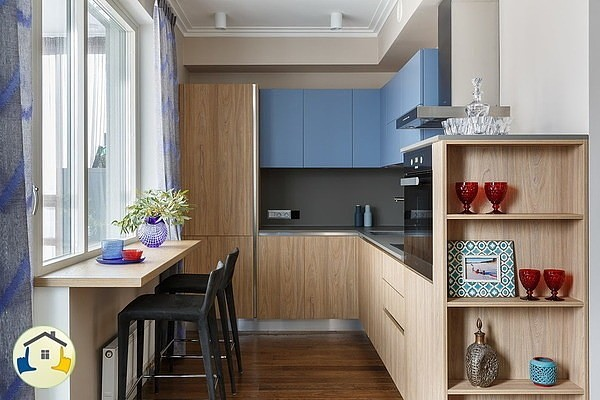 подоконник на кухне барная стойка