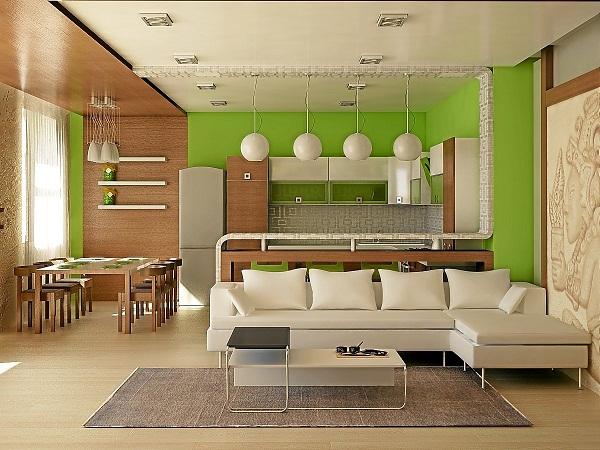 кухня-студия фото дизайн интерьера