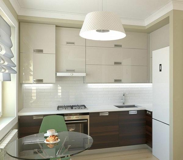 маленькая кухня в стиле минимализм фото интерьер