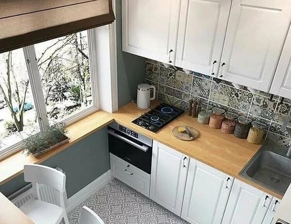 маленькая кухня в хрущевке