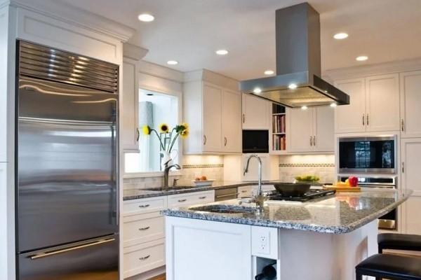 Дизайн интерьера современной кухни студии