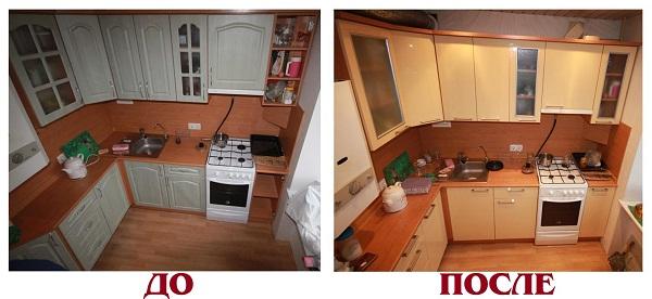 Косметический ремонт кухонного гарнитура