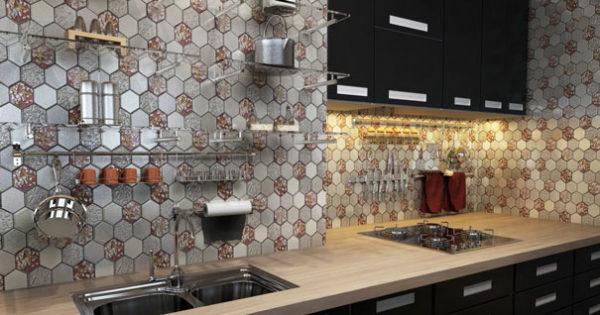 стеклянная мозаика на кухне фартук фото