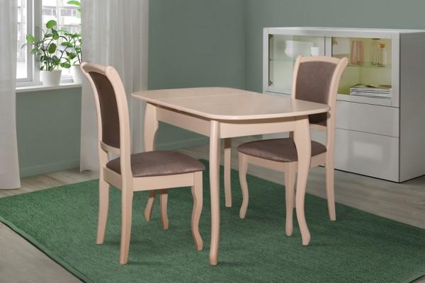 Шпонированный стол на кухню из МДФ