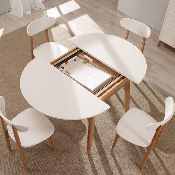 круглый кухонный стол раздвижной для маленькой кухни