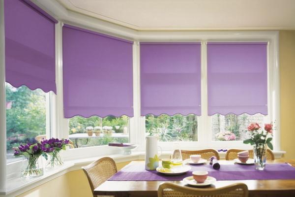 рулонные шторы на кухне фото в интерьере