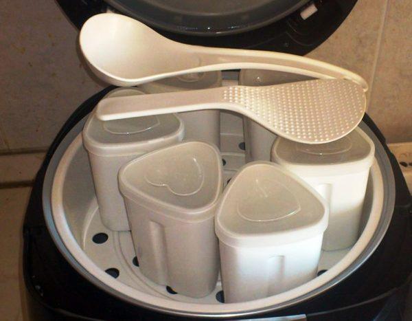 Йогуртница в мультиварке