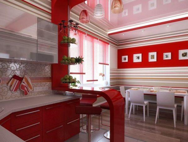Барная стойка из современного материала украсит кухню и послужит разделителем пространства