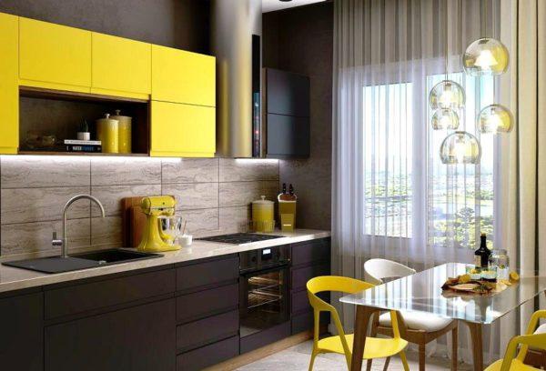 Дизайн кухни в желтых тонах
