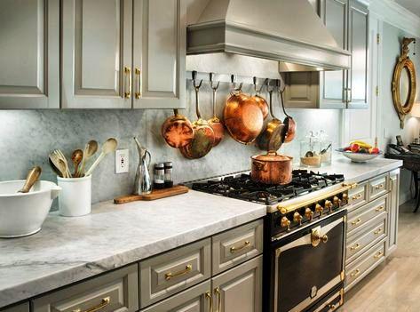 Элементы металлла на кухне