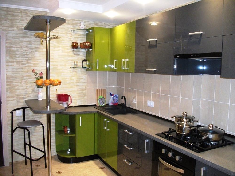 Дизайн кухни в серых тонах