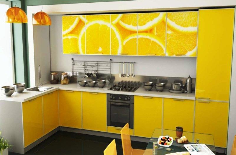 Желтый цвет на кухне