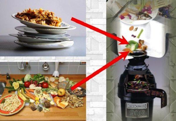 Кухонный измельчитель способен перерабатывать самые разнообразные пищевые отходы