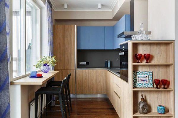 Маленькая кухня в совренменом дизайне 5