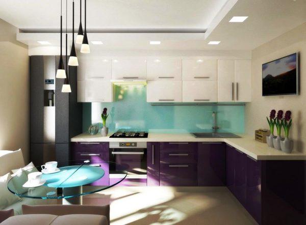 Маленькая кухня в совренменом дизайне 6
