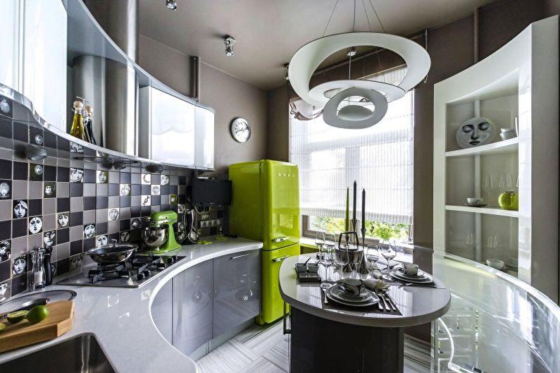 Маленькая кухня в совренменом дизайне