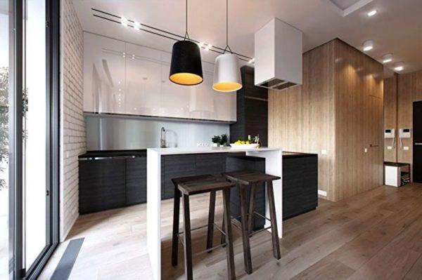 Кухня гостиная современный дизайн 5