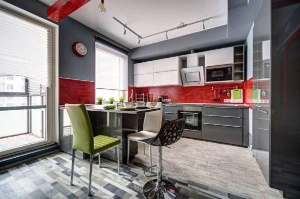 Кухня гостиная современный дизайн 3
