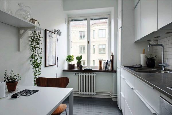 Маленькая кухня в совренменом дизайне 3