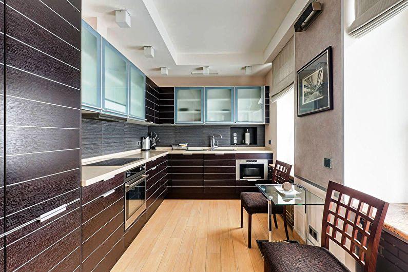 Потолок на современной кухне