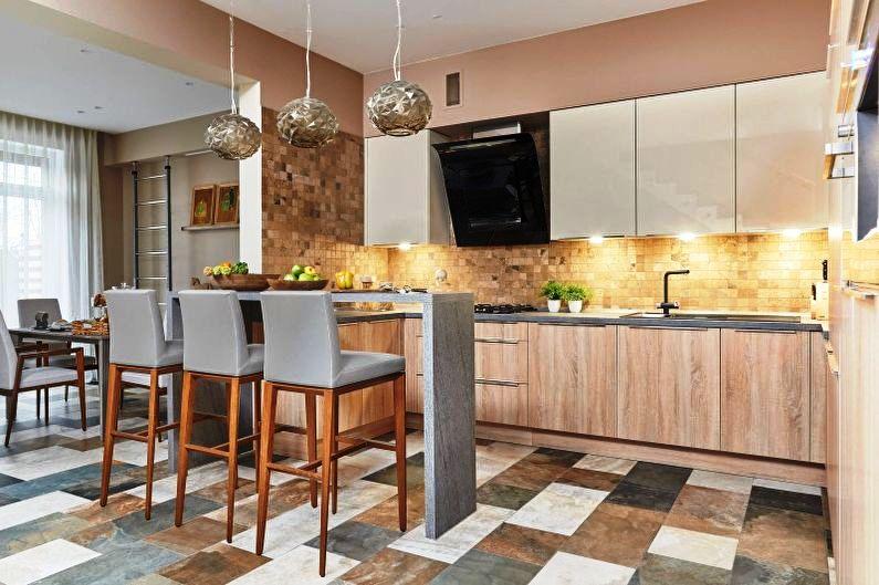 Объединение кухни и гостиной