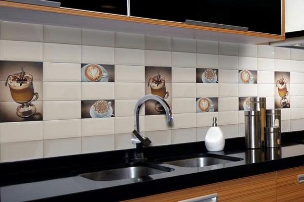 Фартук из керамической плитки для кухни