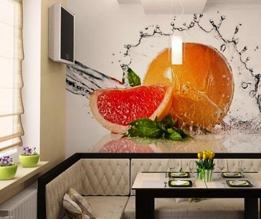 В этом случае включать стоит изображения ярких, сочных апельсинов, фруктов красного и оранжевого цвета, стимулирующих появление аппетита