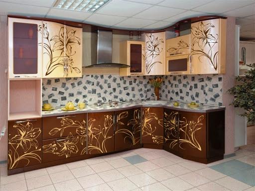 Хотите оригинальный кухонный гарнитур, используйте декупаж
