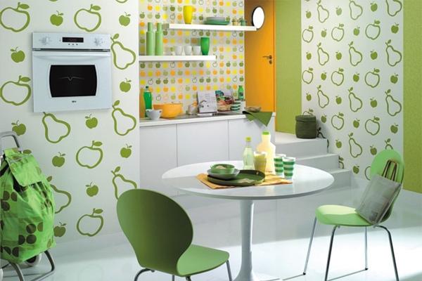 Какие обои выбрать для стен и потолков кухни