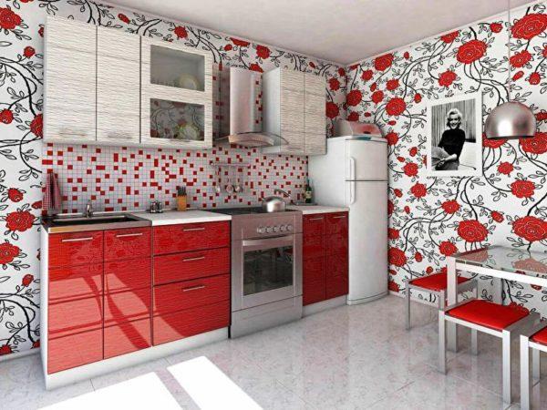 Цвет обоев для кухни