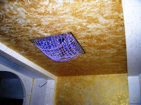 Штукатурка на потолке на кухне