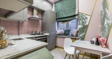 кухня 9 метров дизайн