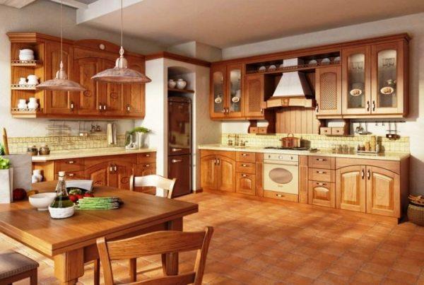 Кухни ЗОВ из дерева