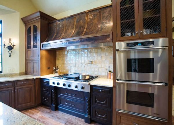 Медь в дизайне кухни