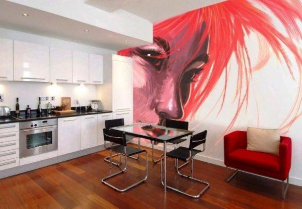 Рисунки на стенах кухни