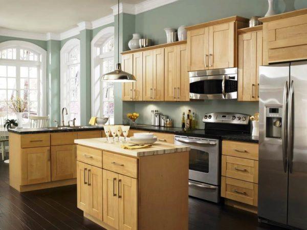 Выбор цвета краски для стен кухни