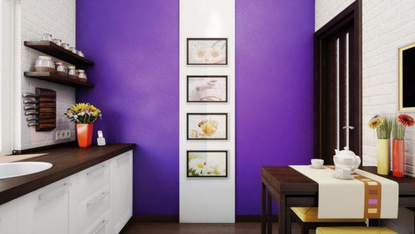 Изменение цвета стен может преобразить вид кухни