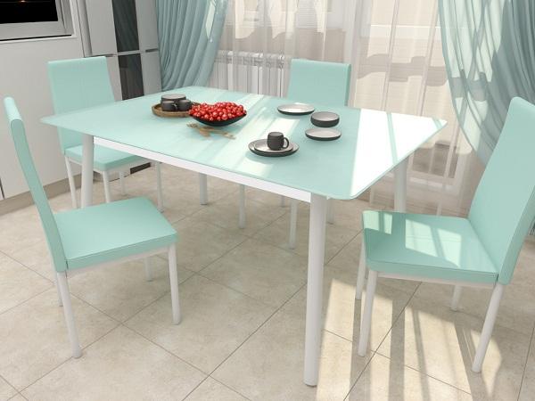 Столы с сатинированным стеклом на кухне